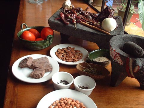 Traditional Mole Ingredients! Playa del Carmen ENJOY