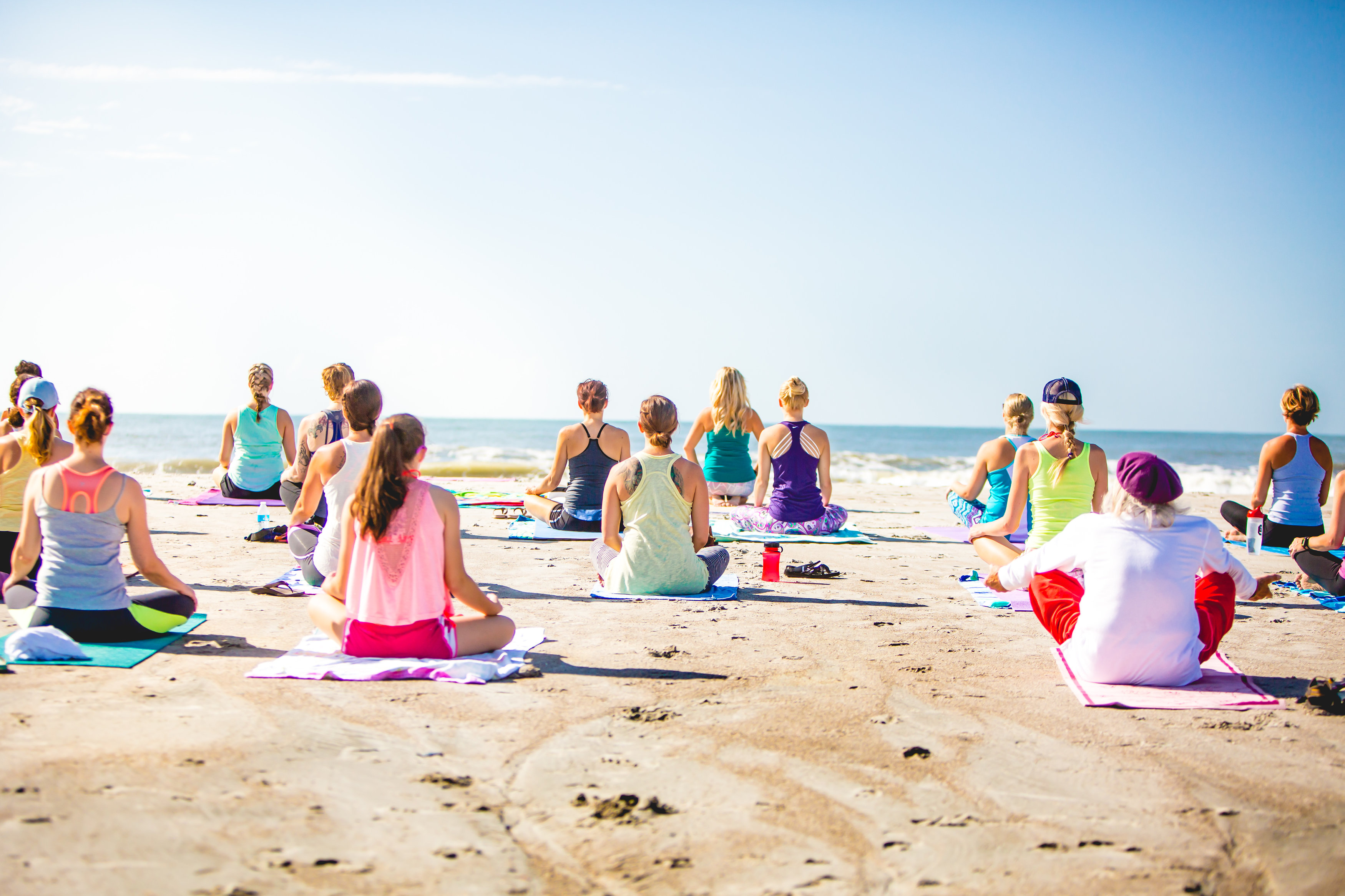 Yoga classes at Tulum beach!  Playa del Carmen ENJOY
